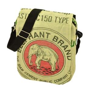 Kino - kleine schoudertas van gerecyclede cementzakken
