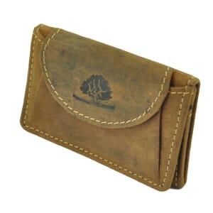Reno - mini-portemonnee van vintage bruin leer