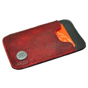 Slim - miniportemonneetje van autoband en ecoleer - rood