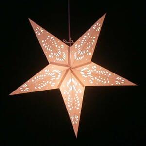 Papieren kerstster Jameela - wit - incl. verlichtingsset