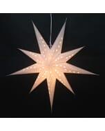 Grote papieren kerstster Sumana - wit - incl. verlichtingsset