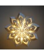 Morocco - decoratieve witte papieren hanglamp