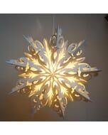Tiara - decoratieve witte papieren hanglamp