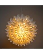 Zinnia - decoratieve witte papieren hanglamp