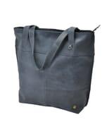 Estilo - shopper ecoleer - grijsblauw