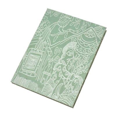 Op FairFrog: Lokta Papier Notitieboekje 'Mithila' A5 - Grijs