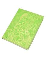 Lokta papier notitieboekje 'Mithila' A6 - groen
