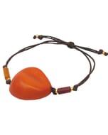 Ovalo - armband van tagua - oranje