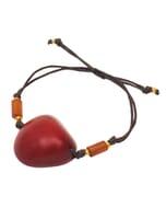 Ovalo - armband van tagua - rood