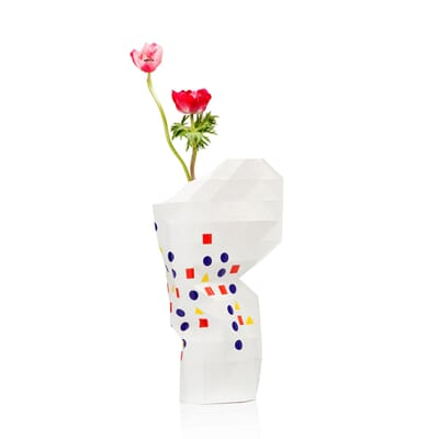 Op FairFrog: Paper Vase Cover - Dutch Designvaas - Bauhaus