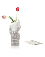 Paper vase cover - Dutch designvaas - grachtenpanden