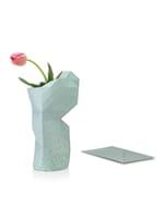 Paper vase cover - Dutch designvaas - groen met mieren