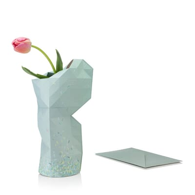 Paper Vase Cover Green Ants Dutch Design Foldable Vase By Pepe