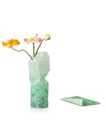 Paper vase cover - Dutch designvaas - groen verloop