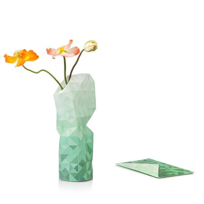 Paper Vase Cover Grey Gradient Dutch Design Foldable Vase By Pepe