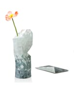 Paper vase cover - Dutch designvaas - grijs verloop
