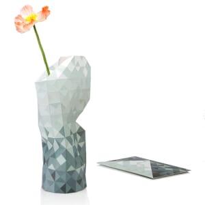 Paper vase cover - Dutch designvaas - grijs verloop
