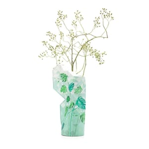 Paper Vase Cover - Dutch designvaas - Jungle Leaves