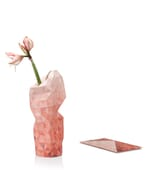 Paper vase cover - Dutch designvaas - rood verloop