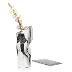 Paper vase cover - Dutch designvaas - zilver