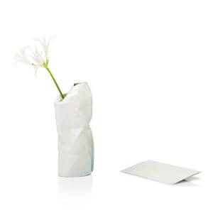 Paper Vase Cover klein Dutch Design - licht grijs tinten