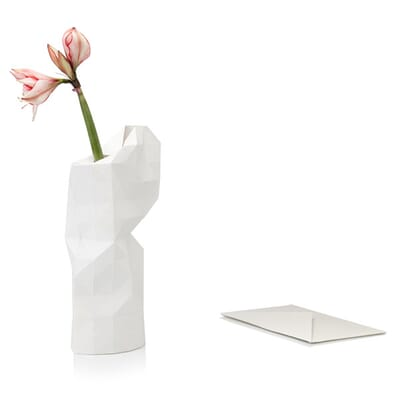 Paper Vase Cover White Dutch Design Foldable Vase By Pepe Heykoop