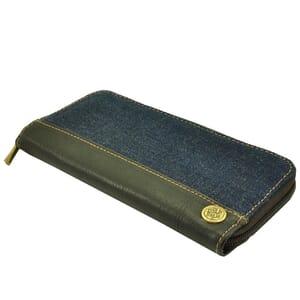 Portefeuille van spijkerstof en luxe vaquetta leer - sample