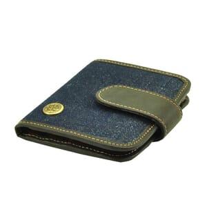 Portemonnee van spijkerstof en vaquetta leer - sample