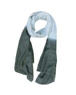 Purna - zachte sjaal van fijne wol met dip-dye - grijs donkergrijs