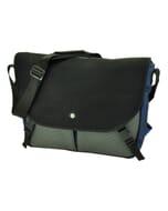 Rio - ruime en praktische 15,4 laptoptas met urban look - blauw