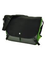 """Rio - ruime en praktische 15,4"""" laptoptas met urban look - groen"""