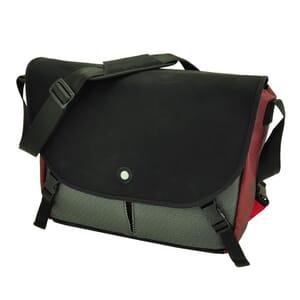 """Rio - ruime en praktische 15,4"""" laptoptas met urban look - rood"""