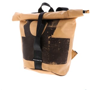 Berlin - strong, spacious backpack of truck tarpaulin with roll top