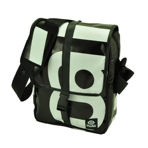 """Torba – Sleek shoulder bag from recycled billboards with 10"""" tablet compartment"""