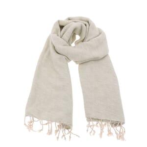 Pina - brede 'yakwol' sjaal of omslagdoek - grijs crème