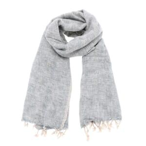 Pina - brede 'yakwol' sjaal of omslagdoek - grijsblauw
