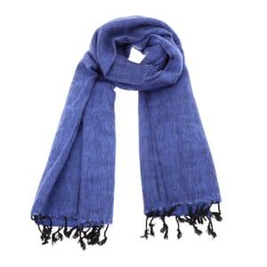 Pina - brede 'yakwol' sjaal of omslagdoek - lavendelblauw
