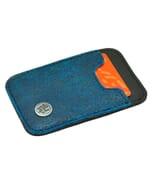 Slim - miniportemonneetje van autoband en ecoleer - blauw