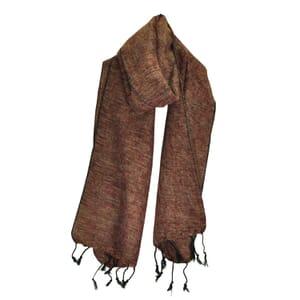 Yaku - 'yakwol' sjaal - cognac bruin