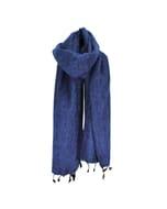 Yaku - 'yakwol' sjaal - jeansblauw