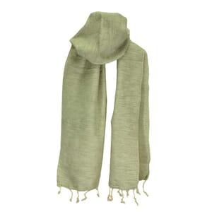 Yaku - scarf from yak wool - grey/cream