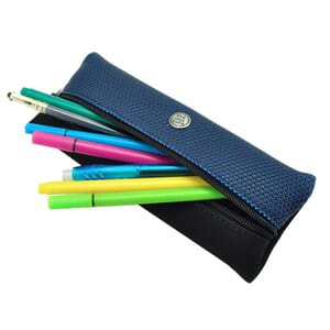 Sol – cool, urban pencil case or pouch for writing equipment and make-up - blue