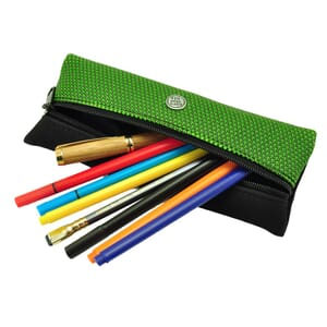 Sol – cool, urban pencil case or pouch for writing equipment and make-up - green