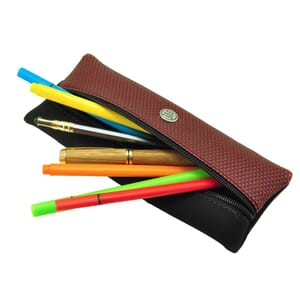 Sol – cool, urban pencil case or pouch for writing equipment and make-up - red
