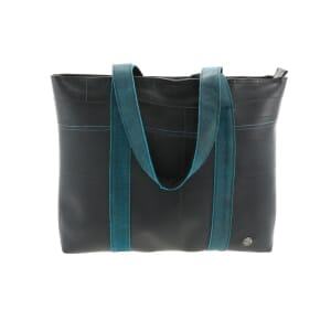 Ramblas – stylish shopper from tyre tube and eco leather - blue