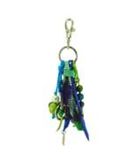 Feliz azul – sleutel- of tashanger in blauw groen tinten