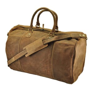 Topeka - large travel bag / sports bag of vintage brown eco leather