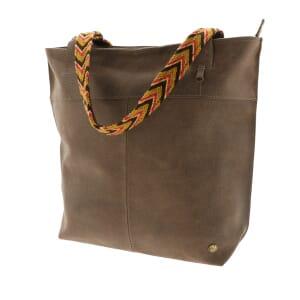 Estilo Wayuu - shopper ecoleer - bizon bruin