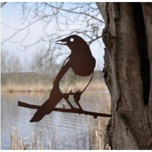 Ekster - metalen vogel voor in de tuin