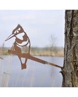 IJsvogel - metalen vogel voor in de tuin
